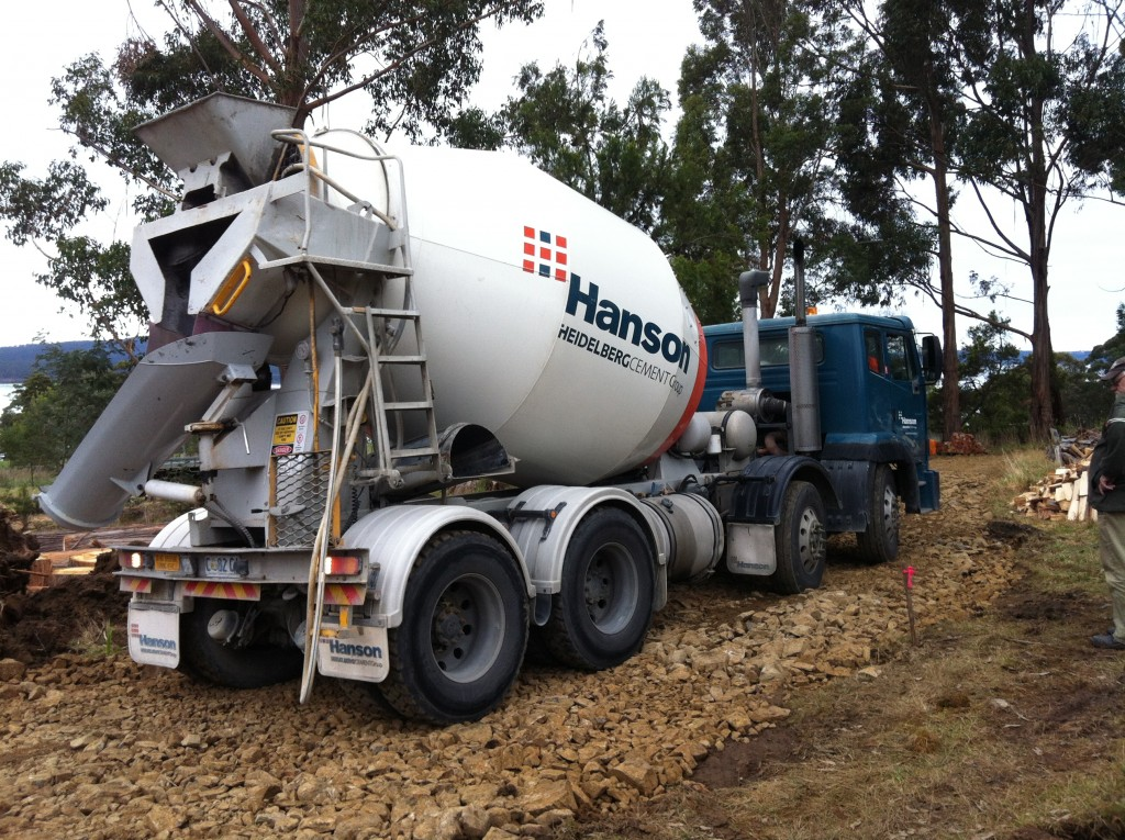 The first concrete truck. They look heavy - they are
