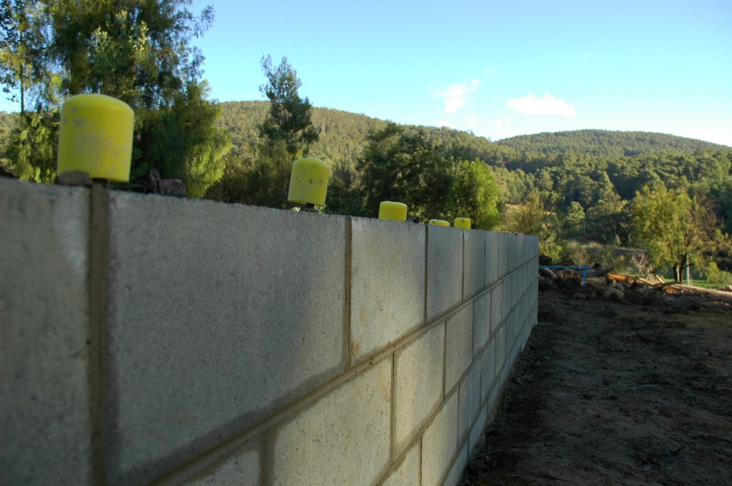 A beautiful straight, level blockwork wall