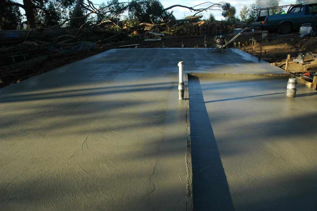 Mind the step: the setdown in the slab for the wet area