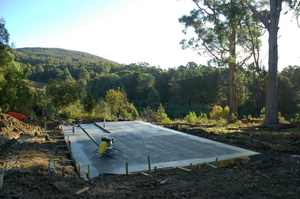 A thing of beauty: the slab, poured and nearly finished