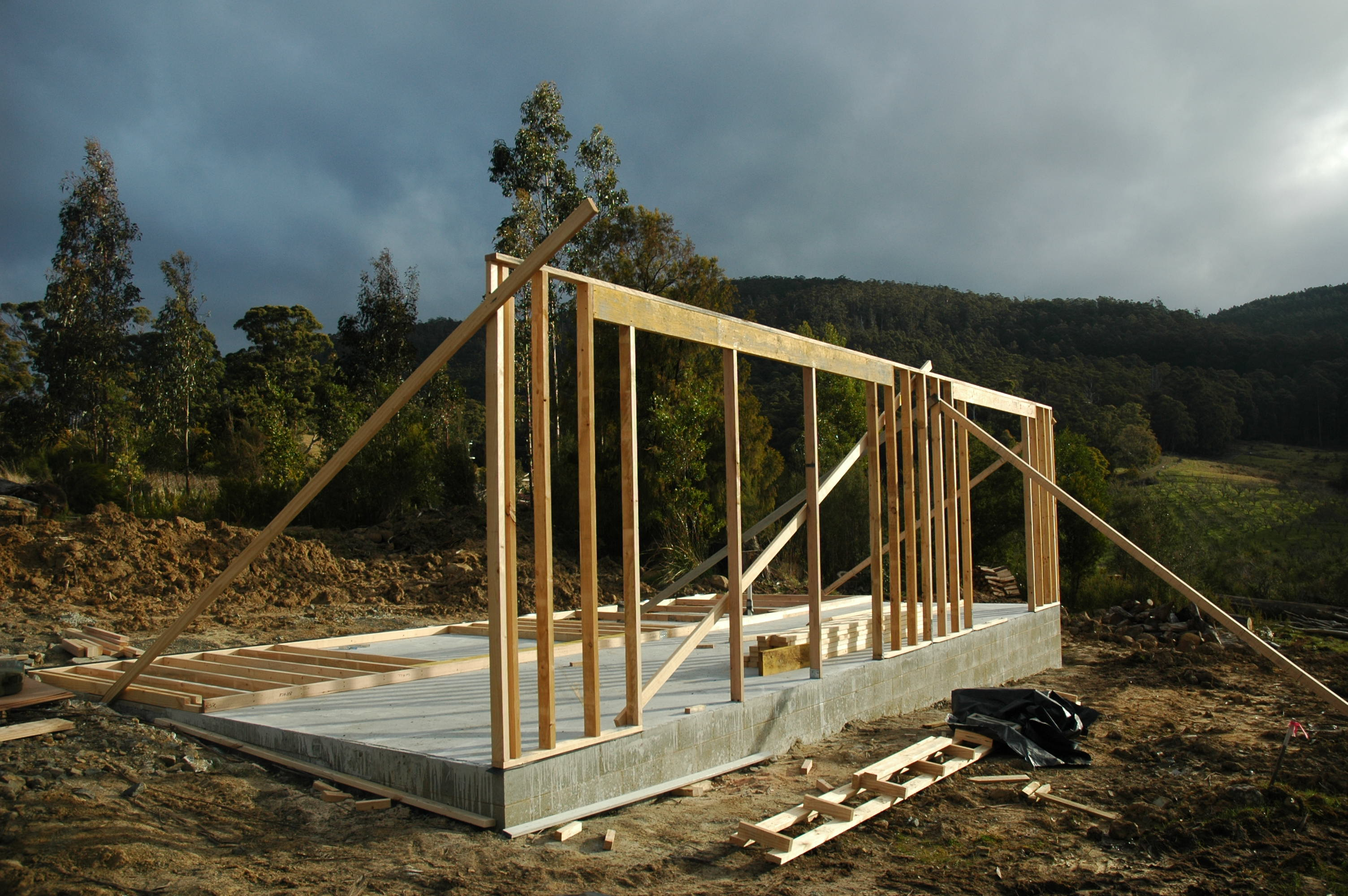 Framing The Walls 60k House