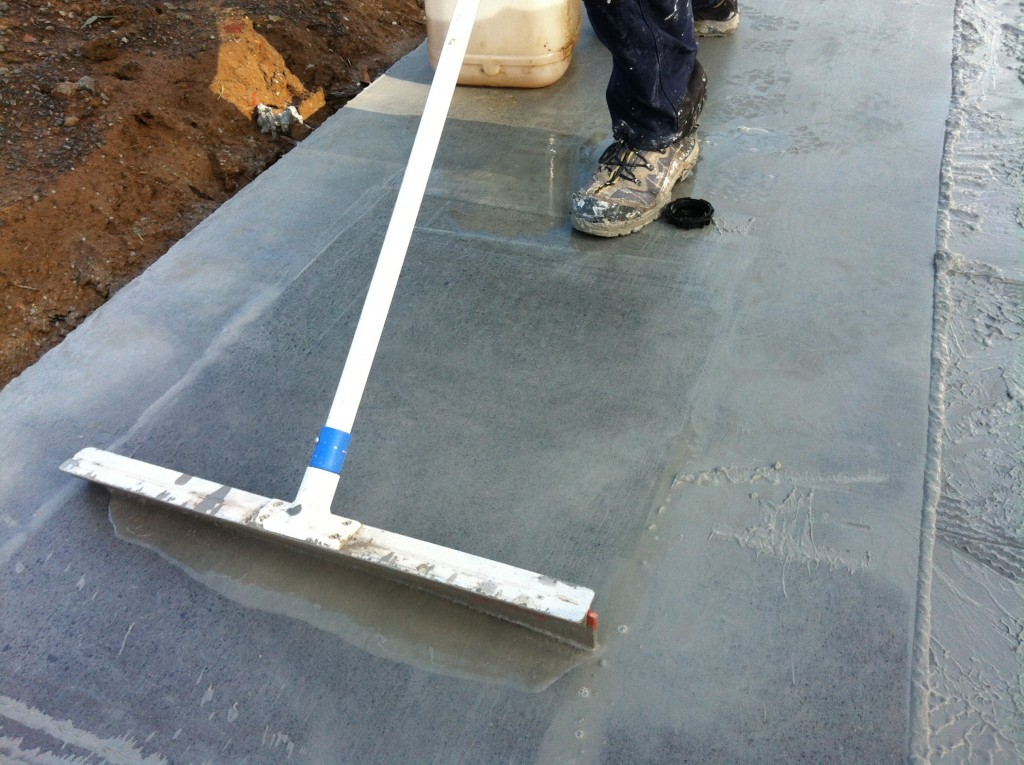 Getting there: revealing the concrete finish beneath the sludge