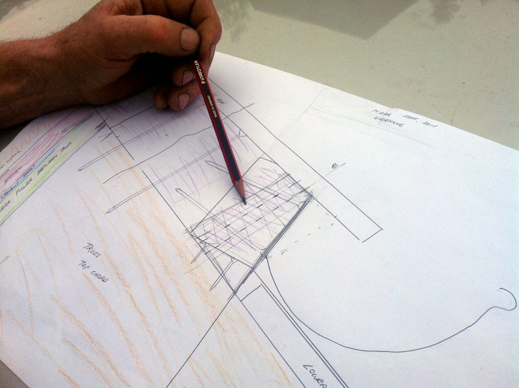 Working things out: drawing a 1:1 detail of the fascia