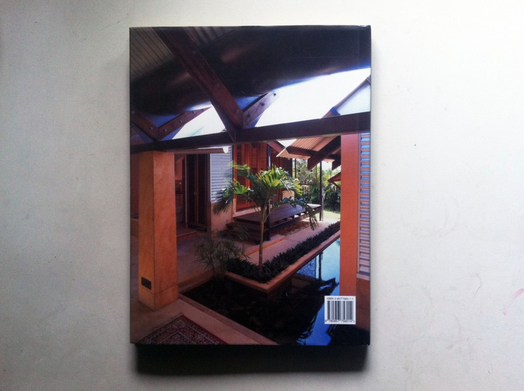 Troppo Architects, by Philip Goad - rear cover