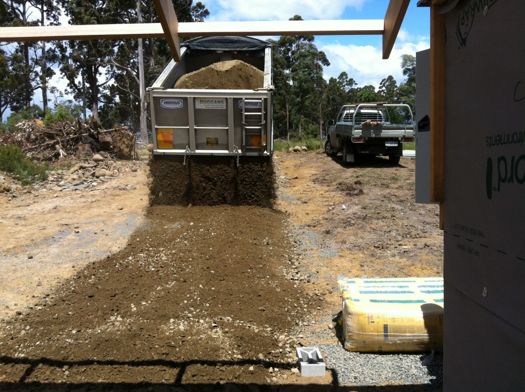 Just in case: some more gravel for the driveway before the birthday party