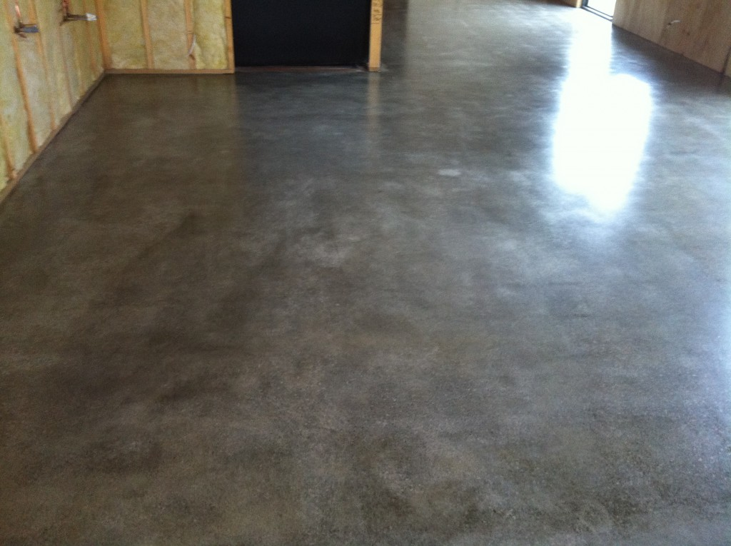 Done: the finished polished concrete floor