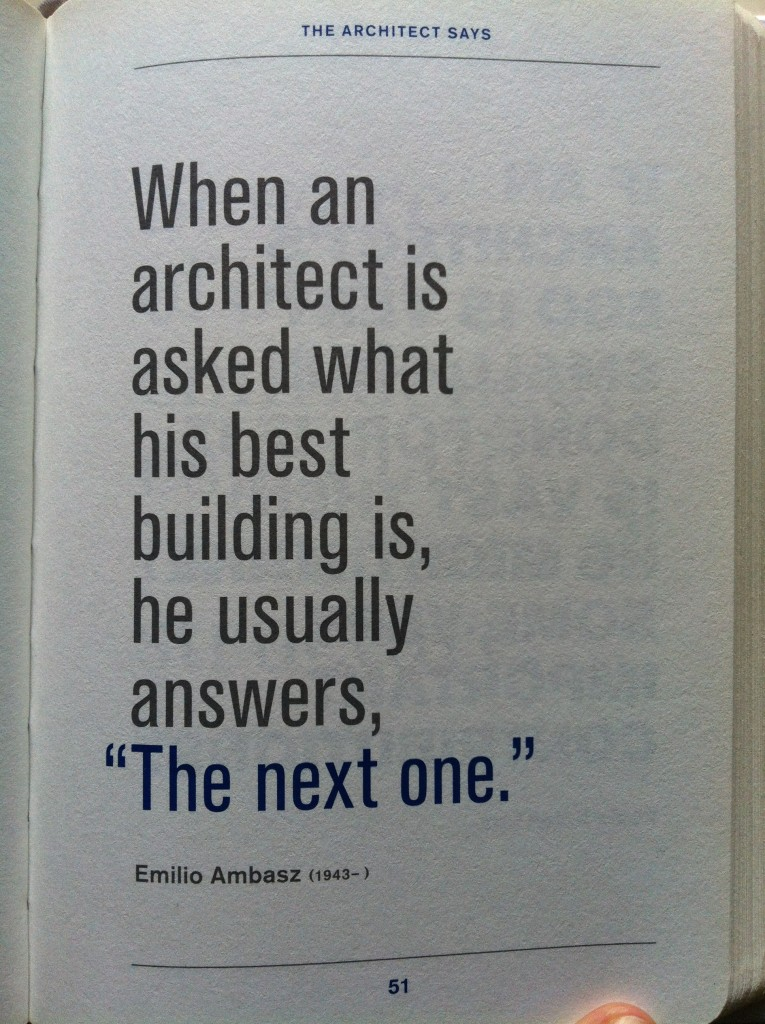 The Architect Says, by Laura Dushkes