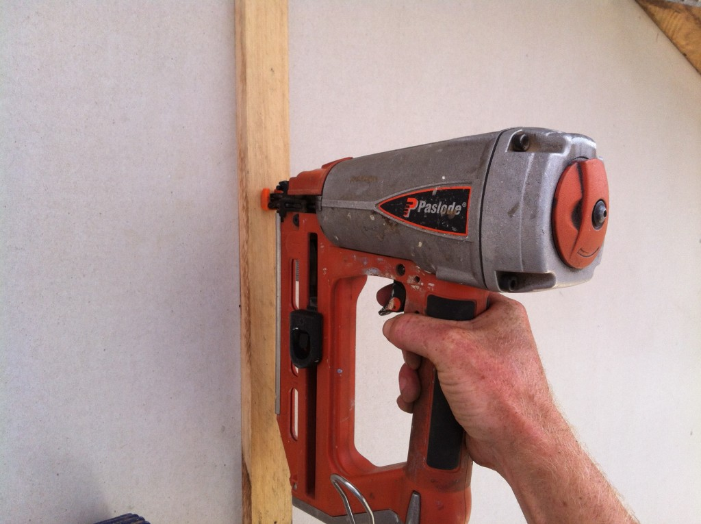Easy does it: nailing the timber cover strips