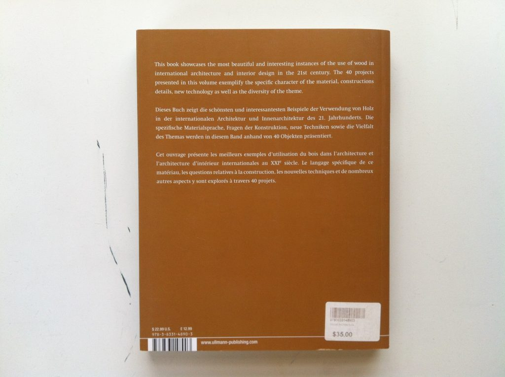 Wood by Barbara Linz - rear cover