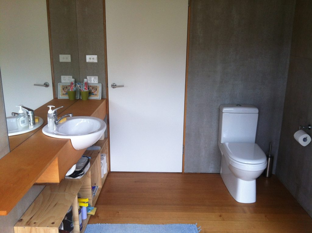 Spacious: the finished bathroom, complete with toilet roll holder